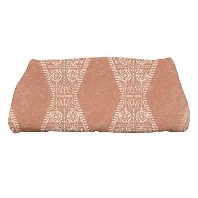Soluri Pyramid Geometric Print Bath Towel Color: Orange
