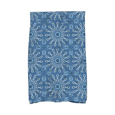 Soluri Sun Tile Abstract Hand Towel Color: Blue