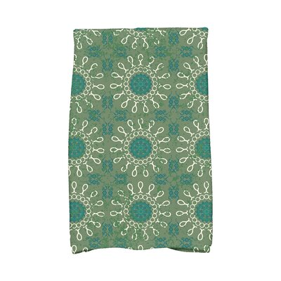 Soluri Sun Tile Abstract Hand Towel Color: Green