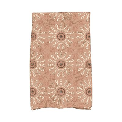 Soluri Sun Tile Abstract Hand Towel Color: Taupe