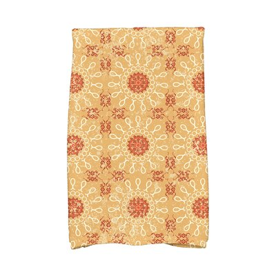 Soluri Sun Tile Abstract Hand Towel Color: Gold