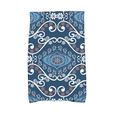 Soluri Illuminate Abstract Hand Towel Color: Navy Blue