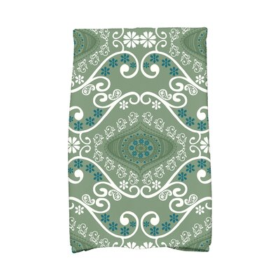 Soluri Illuminate Abstract Hand Towel Color: Green