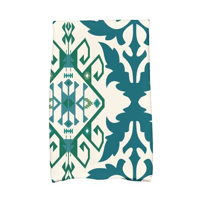 Soluri 6 Abstract Hand Towel Color: Teal