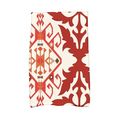 Soluri 6 Abstract Hand Towel Color: Orange/Rust