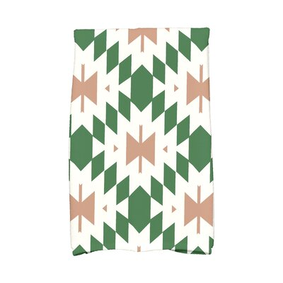 Soluri Geometric Print Hand Towel Color: Green