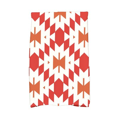 Soluri Geometric Print Hand Towel Color: Orange