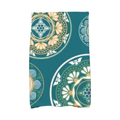 Soluri Medallions Geometric Print Hand Towel Color: Teal