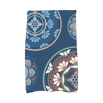Soluri Medallions Geometric Print Hand Towel Color: Blue