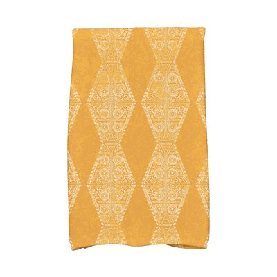Soluri Pyramid Stripe Geometric Print Hand Towel Color: Gold