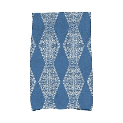 Soluri Pyramid Stripe Geometric Print Hand Towel Color: Blue