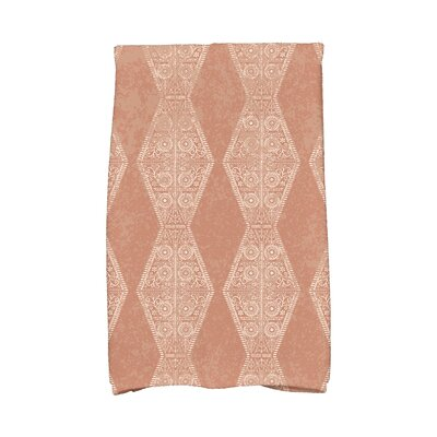 Soluri Pyramid Stripe Geometric Print Hand Towel Color: Orange