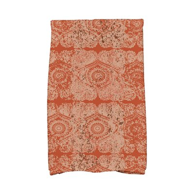 Soluri Patina Abstract Hand Towel Color: Orange/Rust