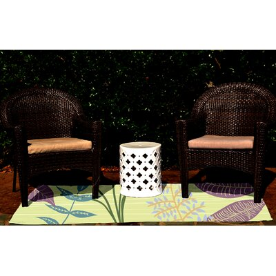 Vinoy Green Indoor/Outdoor Area Rug Rug Size: 5 x 7