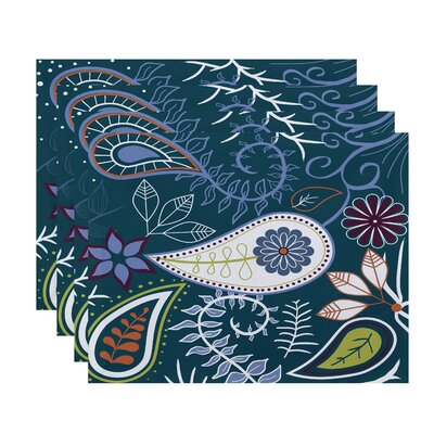 Vinoy Paisley Floral Placemat Color: Teal