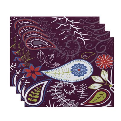 Vinoy Paisley Floral Placemat Color: Purple