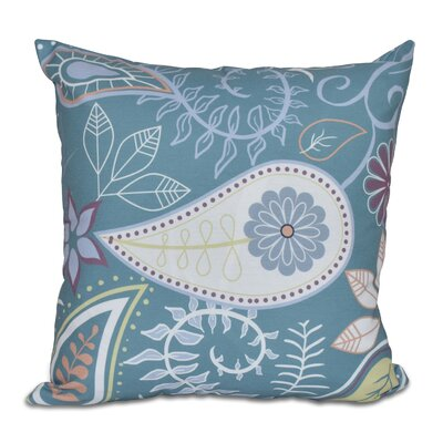 Vinoy Paisley Floral Throw Pillow Size: 16 H x 16 W, Color: Teal