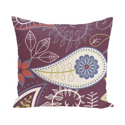 Vinoy Paisley Floral Outdoor Throw Pillow Size: 20 H x 20 W, Color: Purple