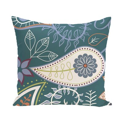 Vinoy Paisley Floral Outdoor Throw Pillow Size: 20 H x 20 W, Color: Teal