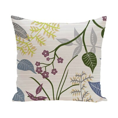 Vinoy Botanical Floral Outdoor Throw Pillow Size: 20 H x 20 W, Color: Gray