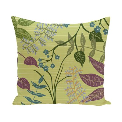 Vinoy Botanical Floral Outdoor Throw Pillow Size: 20 H x 20 W, Color: Green