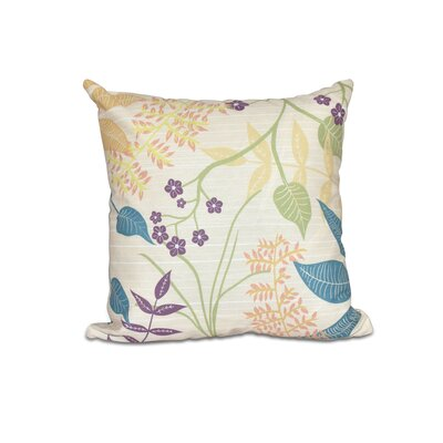 Vinoy Botanical Floral Outdoor Throw Pillow Size: 18 H x 18 W, Color: Gold