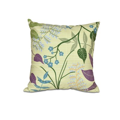 Vinoy Botanical Floral Outdoor Throw Pillow Color: Gold, Size: 16 H x 16 W