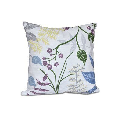 Vinoy Botanical Floral Outdoor Throw Pillow Size: 18 H x 18 W, Color: Gray