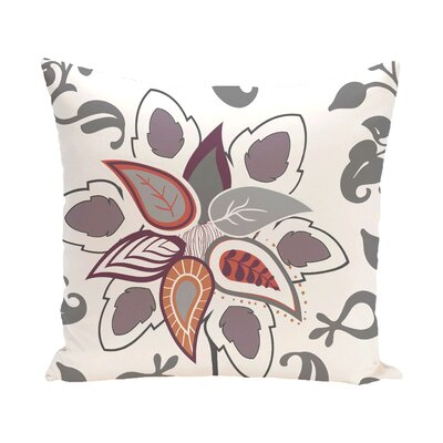 Vinoy Paisley Pop Floral Outdoor Throw Pillow Size: 20 H x 20 W, Color: Gray