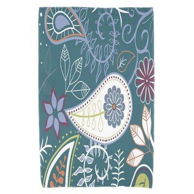 Vinoy Paisley Floral Beach Towel Color: Teal