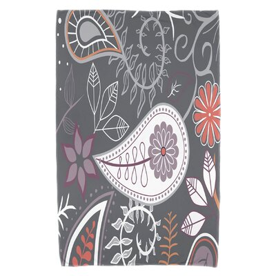 Vinoy Paisley Floral Beach Towel Color: Gray