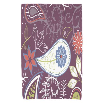 Vinoy Paisley Floral Beach Towel Color: Purple