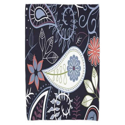 Vinoy Paisley Floral Beach Towel Color: Navy Blue