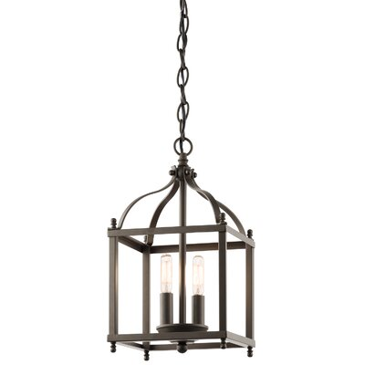 Celestine 2-Light Foyer Pendant Finish: Olde Bronze