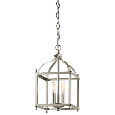 Bovill 2-Light Foyer Pendant Finish: Brushed Nickel