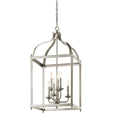Bovill 6-Light Foyer Pendant Finish: Brushed Nickel