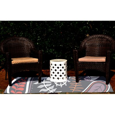 Vinoy Gray Indoor/Outdoor Area Rug Rug Size: 2 x 3