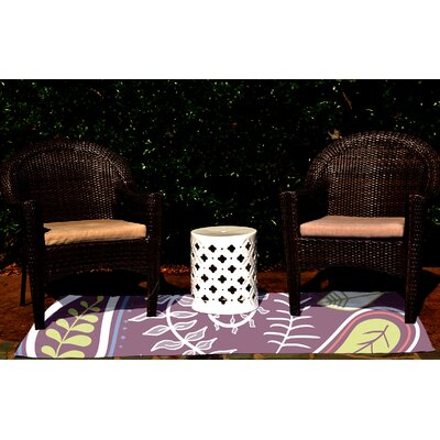 Vinoy Purple Indoor/Outdoor Area Rug Rug Size: 3 x 5