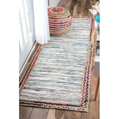 Suraiya Hand-Woven Blue Area Rug Rug Size: Runner 26 x 8