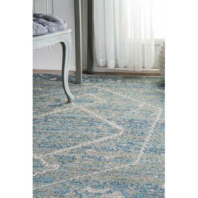 Argana Blue Area Rug Rug Size: Rectangle 8' x 10'