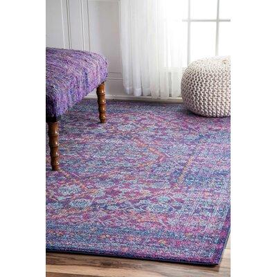 Argana Purple Area Rug Rug Size: 4' x 6' BNGL7268 33059608