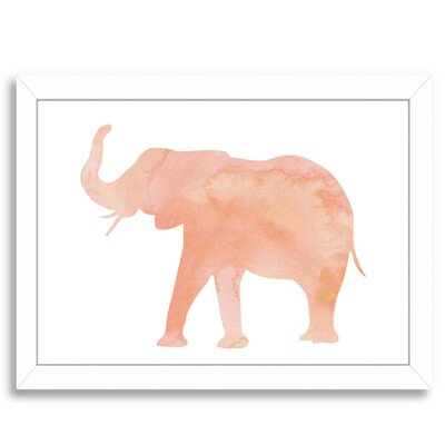 Coral Elephant Framed Graphic Art