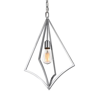 Beverly 1-Light Foyer Pendant Finish: Chrome, Size: 23.75 H x 14 W x 14 D