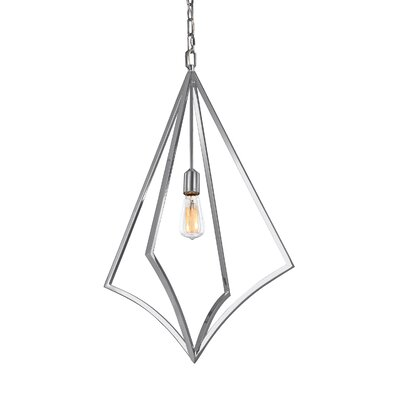 Beverly 1-Light Foyer Pendant Finish: Chrome, Size: 32 H x 19 W x 19 D
