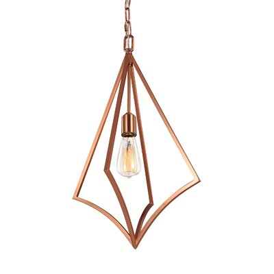 Beverly 1-Light Foyer Pendant Finish: Copper, Size: 23.75 H x 14 W x 14 D