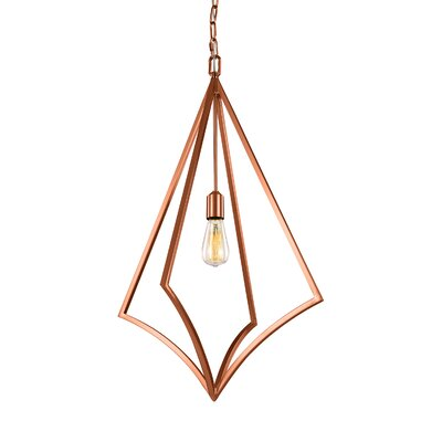 Beverly 1-Light Foyer Pendant Finish: Copper, Size: 32 H x 19 W x 19 D