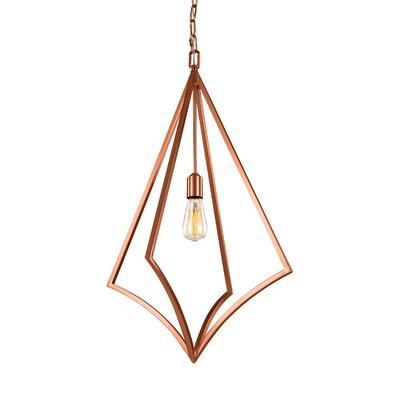 Beverly 1-Light Foyer Pendant Finish: Copper, Size: 32 H x 19 W x 19 D