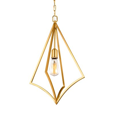 Beverly 1-Light Foyer Pendant Finish: Burnished Brass, Size: 23.75