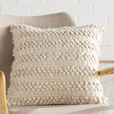 Prony Woven Stripes Jute Throw Pillow Color: Beige