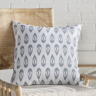 Sabrina Tears Geometric Print Throw Pillow Size: 16 H x 16 W, Color: Gray